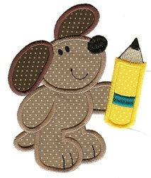 Back to School Critter Applique 2 - 2 Sizes! | back-to-school | Machine Embroidery Designs | SWAKembroidery.com Designs by Juju
