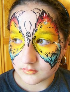 need to try this one for the next festival i face paint for. if only they would sit still long enough for me to do it