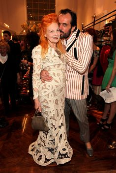 "Vivienne Westwood and Andreas Kronthaler - Vivienne Westwood ""Get A Life"" Palladium Jewelry Collection At Vivienne Westwood Store Opening Party"