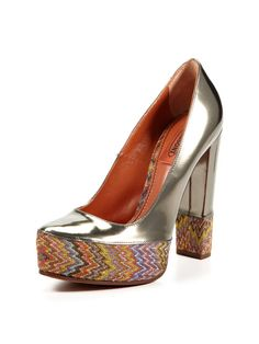 Missoni does it again!! Missoni Shoes Platform Pump