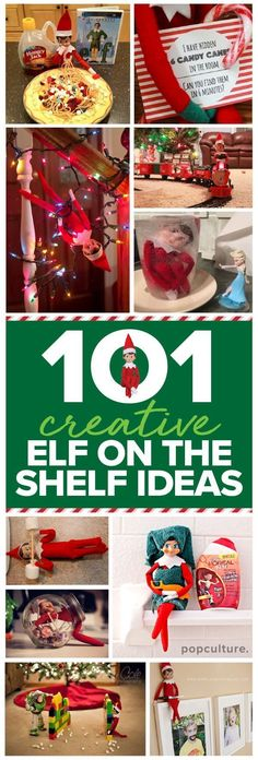 101 easy Elf on the Shelf ideas. If you're looking for some elvish inspiration, then look no further. We've scoured the internet and collected the very best Elf on the Shelf ideas! Popculture.com #elfontheshelfideas #elfontheshelf #elfontheshelffunny #elf