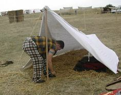 One man sleeping tarp --- Can make it out of a plaid Canvas Tent, Early Middle Ages, Ultralight Backpacking, Tents, Indiana, Celtic, Camping, Larp, Gates