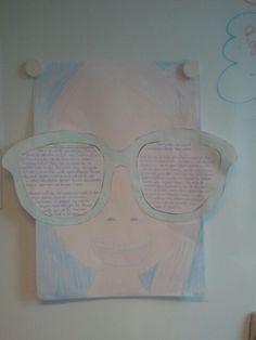 Leuke opdracht voor na de zomervakantie of net ervoor: laat ze beschrijven hoe hun vakantie was (of gaat worden als je het ervoor doet), wat ze hebben beleefd (of gaan beleven). Uiteindelijk schrijven ze dit in het net in de bril, plakken die op en tekenen zichzelf eromheen. Op A3 formaat!