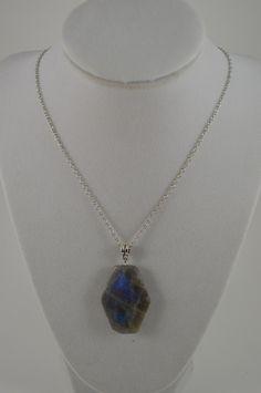 Labradorite Pendant Necklace . Healing Labradorite Necklace . Root Chakra Healing Necklace . Boho Stone Necklace . Meditation Stone Necklace by StarshineInnovations on Etsy