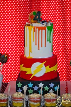 Art and The Flash birthday cake