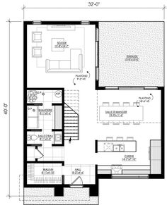 Discover recipes, home ideas, style inspiration and other ideas to try. Future House, My House, Sims House Plans, Apartment Plans, Home Design Plans, Facade House, Prefab, Modern House Design, Architecture
