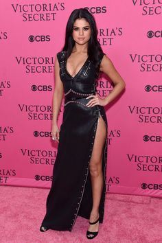Selena Gomez on Victoria's Secret Fashion Show pink carpet - 2015