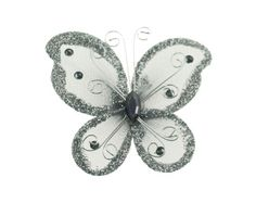 "24 Silver Organza Nylon Wire Butterfly Wedding Arts and Crafts Decorations 2"" Big Party Favors Plus,http://www.amazon.com/dp/B0096DIEU0/ref=cm_sw_r_pi_dp_6ze4sb1C65QGR9FP"