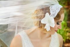 Vintage Inspired Veils--fantastic article by One Wed's Bride Chic. These awesome photos are by La Candella Weddings by the way--lacandellaweddings.com