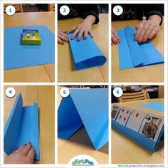 DIY: Here's an easy way to make a card holder for little ones who need help holding and playing cards. www.tararogness.simplyfun.com