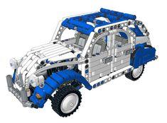 Citroen 2CV Dolly White/Blue Roof by Nico71 https://rebrickable.com/mocs/MOC-11458/Nico71/citroen-2cv-dolly-whiteblue-roof/?utm_content=buffere80f1&utm_medium=social&utm_source=pinterest.com&utm_campaign=buffer #lego
