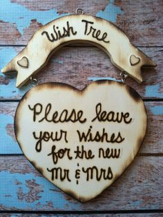 wish tree wedding sign / personalized by FallenStarCoutureInc, $16.99