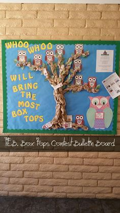 Box Tops Contest Bulletin Board