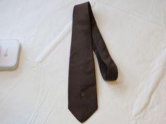 Christian Dior Cravates brown menswear neck tie Silk necktie Men's GUC #ChristianDior #tie