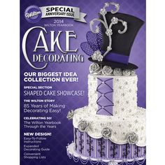 We proudly present the 2014 Wilton Yearbook Cover Cake – featuring buttercream and classic decorating techniques! Learn more about the design process in our blog post. How did we do?