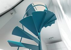 Spiral cantilever alternating tread stairs, storage space saving and miller staircases