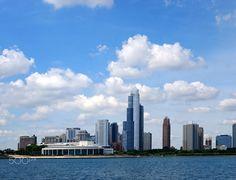 Chicago (USA) - Chicago in USA. Chicago Usa, San Francisco Skyline, New York Skyline, Travel, Viajes, Destinations, Traveling, Trips