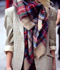 comment combiner un veste beige avec une jolie écharpe femme à carreaux  Écharpe À Carreaux, 49a132e76ec