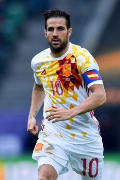 Cesc Fabregas of Spain looks on during an international friendly match between Spain and Bosnia at the AFG Arena on May 29, 2016 in St Gallen, Switzerland.