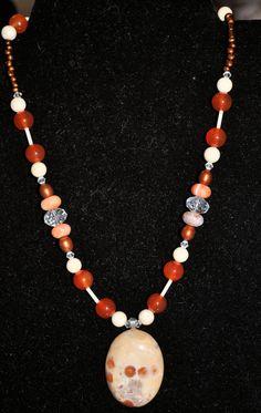Creativity Amulet Orange Ocean Jasper with by TimelessTalismans, $70.00