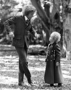 Gene Wilder and Steven Warner at The Little Prince (1974)