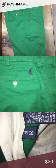Polo Ralph Lauren classic fit Preston pant Worn but great condition. Flat front, no pleats. 35x30 Pants Chinos & Khakis