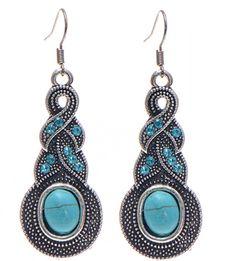 Boho Twist Turquoise Earrings