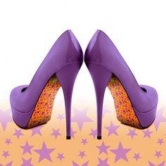 Liquid Heels Pimp your heels - stars design.    Verkrijgbaar op Www.LiquidHeels.nl