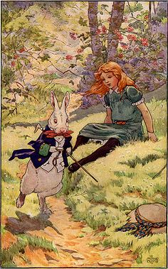 Alice and the White Rabbit - Frank Adams