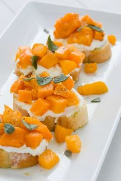 Roasted Butternut Squash, Ricotta, And Sage: This one takes a bit more time to prep to roast the butternut squash, but it's totally worth it: Paired with ricotta, roasted squash, and fresh sage, these are a total winner.