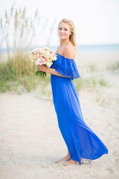 Cobalt blue bridesmaid dress: http://www.stylemepretty.com/little-black-book-blog/2014/10/29/nautical-bald-head-island-wedding-inspiration/ | Photography: Rachel Red - http://rachelredphotography.com/