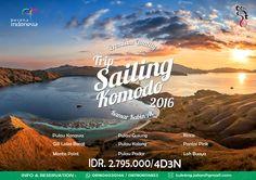 PENAWARAN KHUSUS TRIP SAILING KOMODO PREMIUM TURUN HARGA..!! Open Trip Sailing Komodo by Kapal AC menginap di Luwansa Beach Hotel – PREMIUM (4D3N) Terhemat & Terlengkap SEBELUM IDR 3.595.000/ pax SESUDAH IDR 2.795.000/ pax Jadwal Keberangkatan : 1. 6 - 9 Februari 2016 2. 5 - 8 Maret 2016 3. 1 - 4 April 2016 5. 10 - 13 September 2016 6. 26 - 29 November 2016 7. 10 - 13 Desember 2016