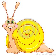 Cute cartoon snail by Tatiana Fevralskaya, via Dreamstime