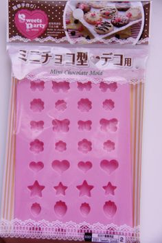 Sweet Party Japanese Silicone mini Chocolate Mold For Chocolate , Clay, and Resin Art