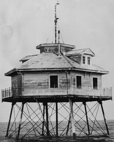 Middle Bay lighthouse in Mobile Bay, standing since laying in the bay separating Mobile and Baldwin Counties on the Gulf Coast of Alabama. Photo circa (at The Bell Rose Tattoo & Piercing) Sand Island, Dauphin Island, Mobile Alabama, Sweet Home Alabama, Down South, Travel Usa, Architecture, Coast, Around The Worlds