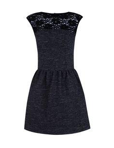 Combined tweed dress