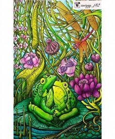 Manic Botanic by: @irinavinnik   Derwent Inktense + Mondeluz #manicbotanic #manicbotanicoloringbook #irinavinnik  #adultcoloringbook #coloringbook #coloringforadults #coloringforgrownups #inktense #kohinoor #mondeluz #kolorowaniedladorosłych #kochamkolorować #kolorowamafia #amber #zifflin