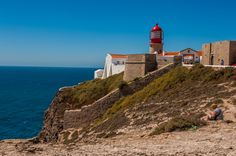 Cape St. Vincent's lighthouse. The most notable icon in Sao Vincente is its red lantern lighthouse which sits at the very southwestern-most point and has 95 km range, making it the most powerful lighthouse in Europe