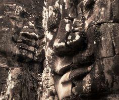 Le temple Bayon aux visages souriants, Angkor Siem Reap, Cambodge, juillet 2013