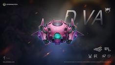 ArtStation - OverWatch D.VA theme icon, FunX ·