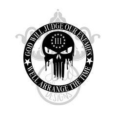 Excited to share the latest addition to my shop: GOD Will Judge Our Enemies Skull 3 percent svg decal t-shirt design 3 Percenter Tattoo, J Lopez, Patriotic Pictures, Military Tattoos, Punisher Skull, Dont Tread On Me, Monogram Frame, Silhouette Studio Designer Edition, Glass Slipper