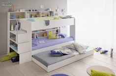 Patrová postel Swan s přistýlkou je unikátním řešením malých interiérů