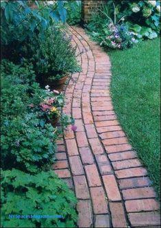 Brick Pathway, Brick Edging, Paver Walkway, Brick Landscape Edging, Flagstone Paving, Front Yard Walkway, Brick Border, Front Path, Brick Patterns Patio