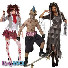 Liven up the Halloween party with Zombie costumes from Party Rock in Frisco!