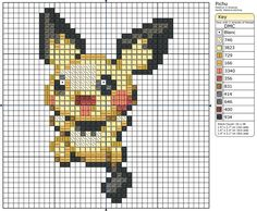 172 - Pichu II by ~Makibird-Stitching on deviantART