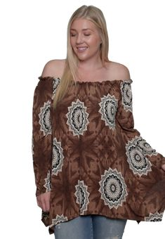 088d23b09e7 Women s Plus Size Off The Shoulder Sunflower Blouse Top Made in USA 1X 2X  3X Cheap