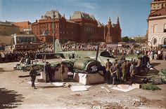 Сбитый немецкий Юнкерс Ю-88 (Ju 88). Москва 27.07.41