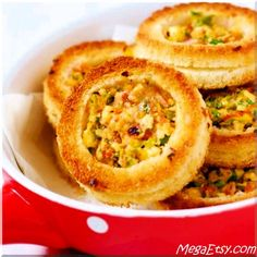 Crispy and delicious veggie loaded cheese rings!