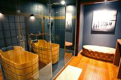 Japanese Soaking Tub Design Ideas, Pictures, Remodel, and Decor - page 16