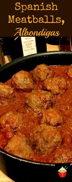 Spanish Meatballs in Garlic Tomato Sauce, Albondigas is a lovely dish served as Tapas in bars. Great for parties, main meals and appetizers!